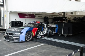 The RLL BMWs being prepped